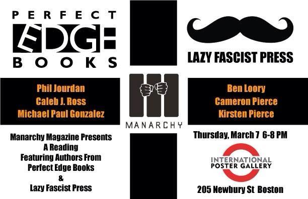 Manarchy reading in Boston